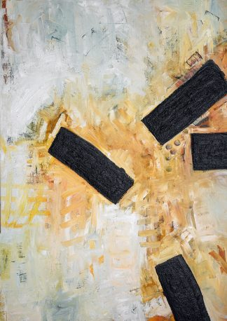 Four strokes, oil painting on canvas, contemporary Art Collection