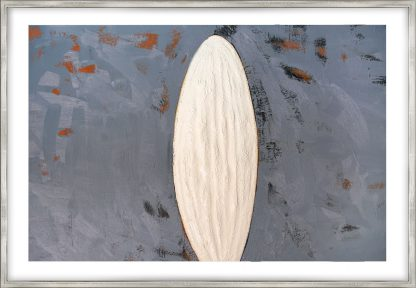 white oval, oil-painting on canvas