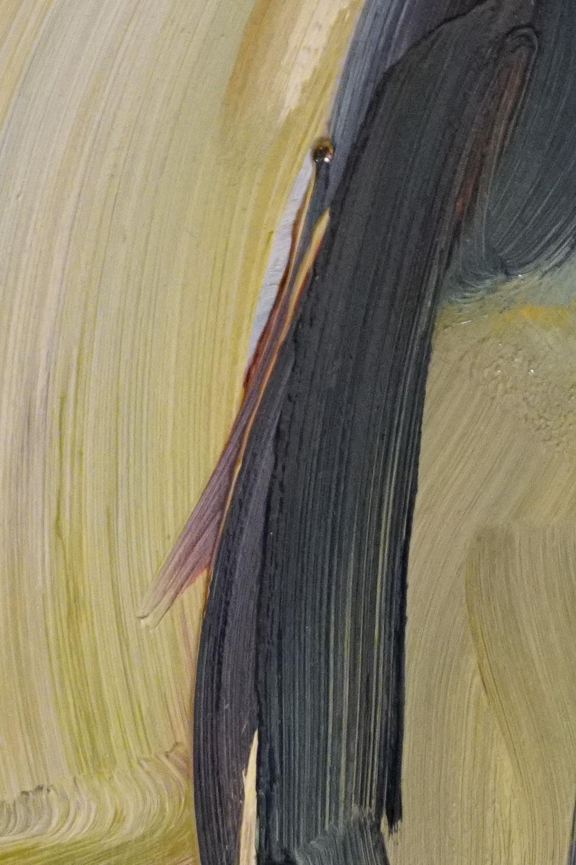 original art gallery, oil color close up